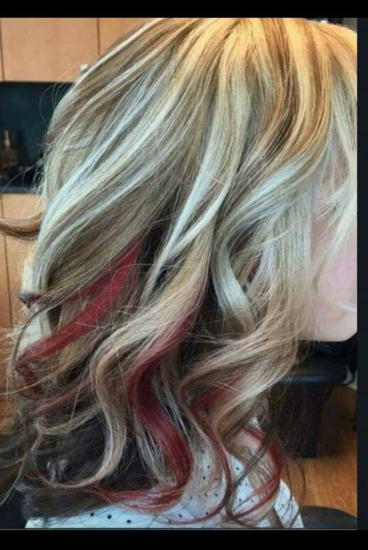 Red Peekaboo Peekaboo Hair Hair Color Burgundy Hair