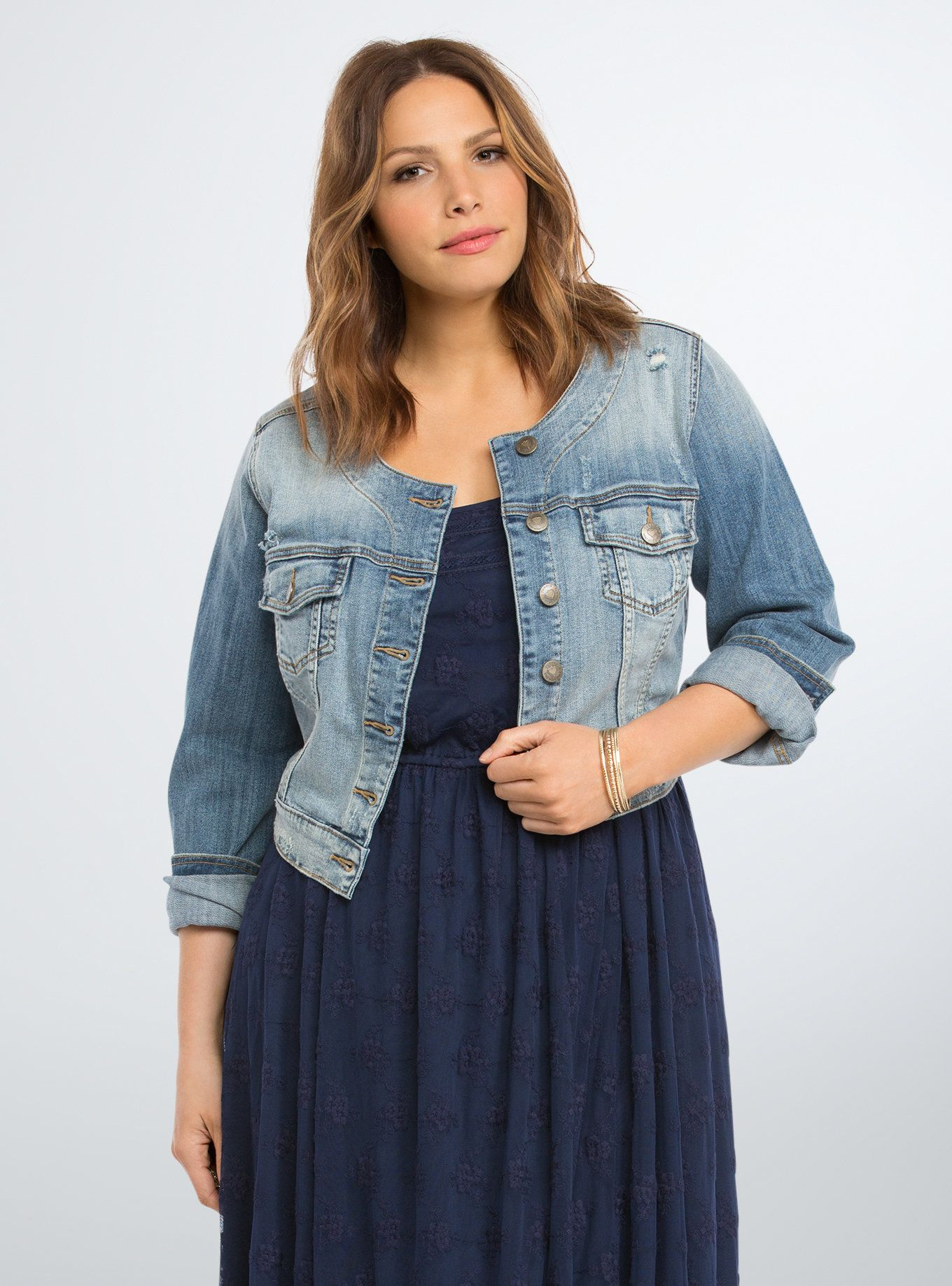 Cropped Denim Jacket | Cropped denim jacket, Denim jackets and Torrid