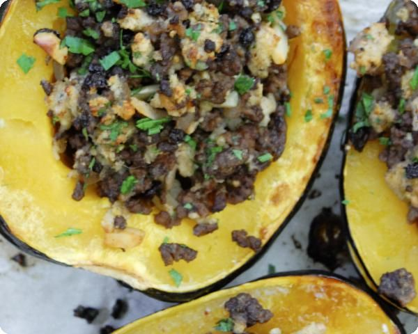 Ground Beef Baked In Acorn Squashimage Lunch Recipes Healthy