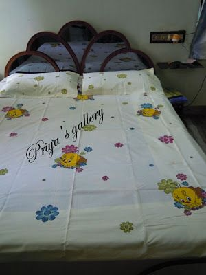Priya S Gallery Fabric Painting On Bed Sheet Bed Sheet Painting