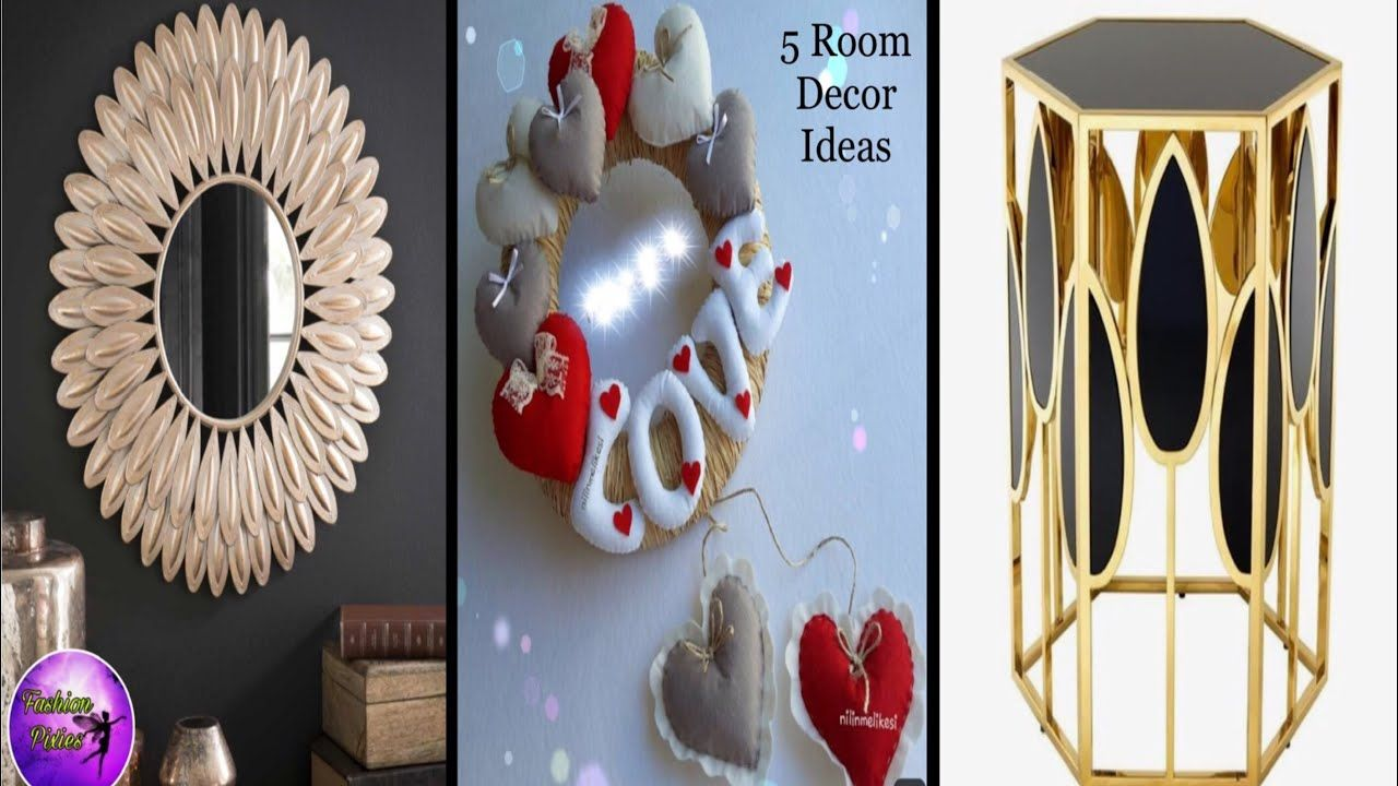 5 Room Decor Ideas Diy Crafts 5 Minute Crafts Craft Diy Room Ideas Fashion Pixies Youtube In 2020 Diy Crafts 5 Minutes Diy Crafts Wall Decor Crafts