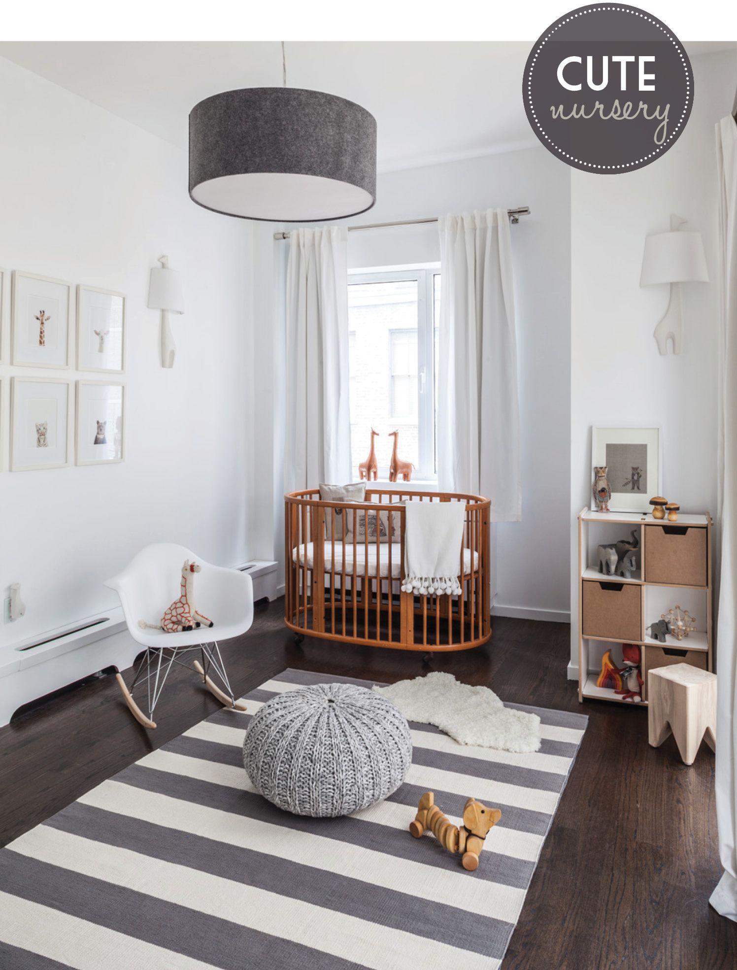 dormitorio de bebe con mecedora eames baby decor ideas nurseryModern Bedrooms For Baby Boys #10