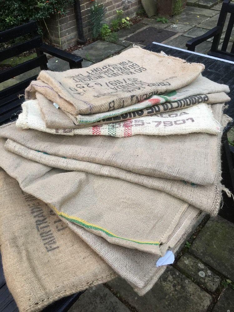 Job Lot Four African Coffee Beans Sacks Garden Cushions