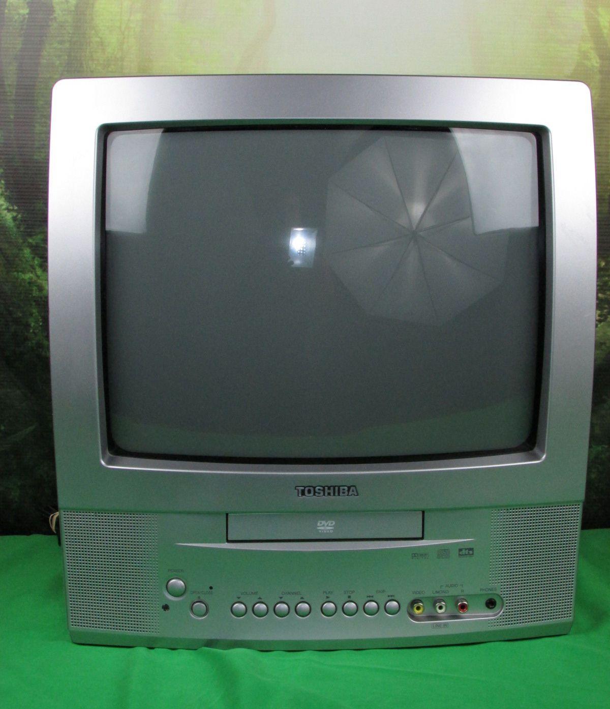 toshiba md13p1 13 crt tv color built in dvd video player. Black Bedroom Furniture Sets. Home Design Ideas