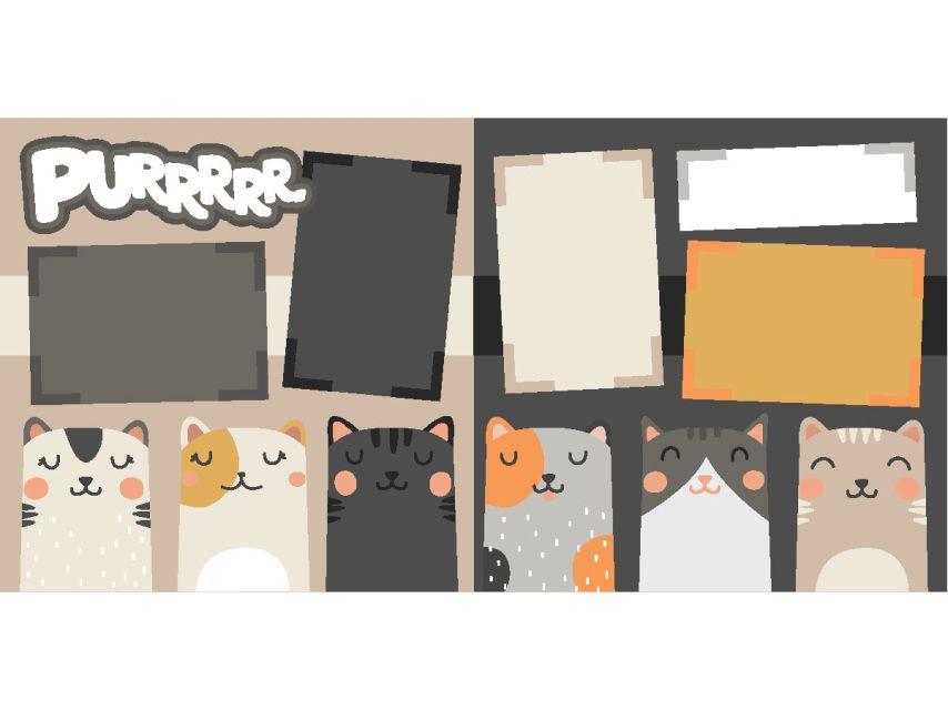 12 X Scrapbook Page Layouts12 KitScrapbook Kit Cat