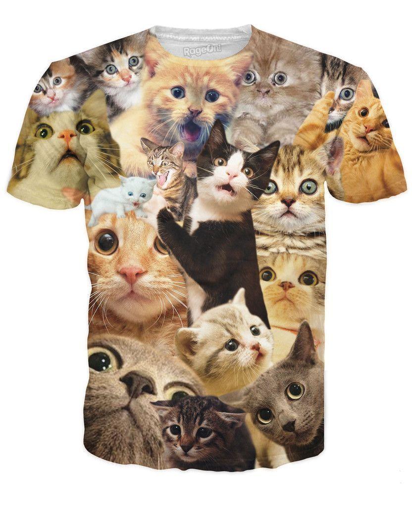 Surprised Cats T Shirt Cat Tee Shirts Cat Tshirts Funny Cat Tshirt