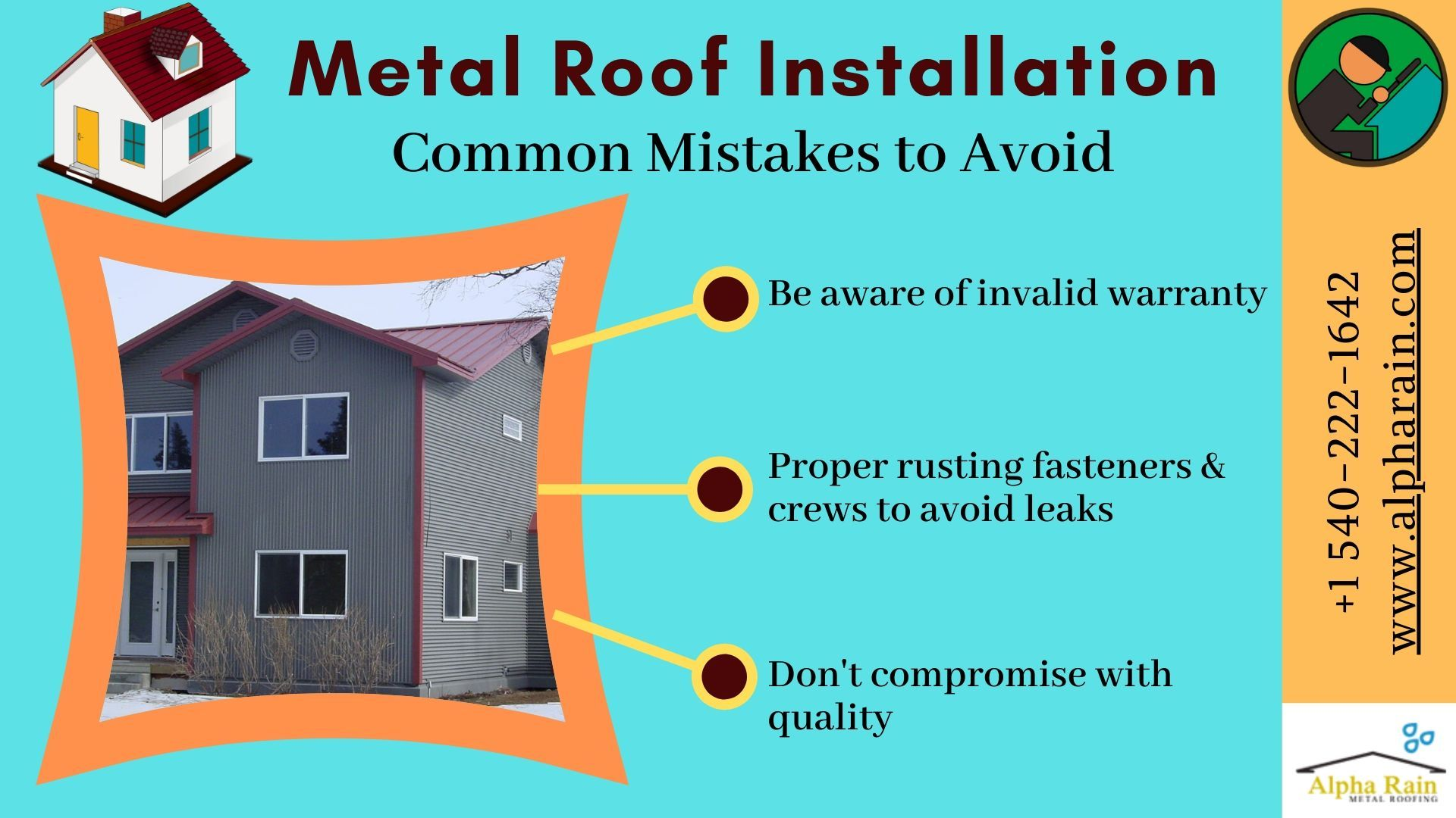 Avoid These Mistakes While Installing Metal Roofing Virginia In 2020 Metal Roof Installation Metal Roof Installation