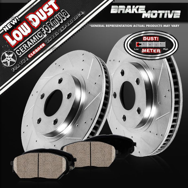 Front Performance Drilled /& Slotted Brake Rotors For Honda Accord Civic Element