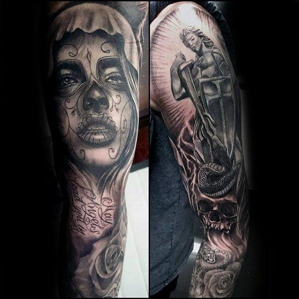 Amazing Religious Tattoo Male Sleeves | Religious Tattoos