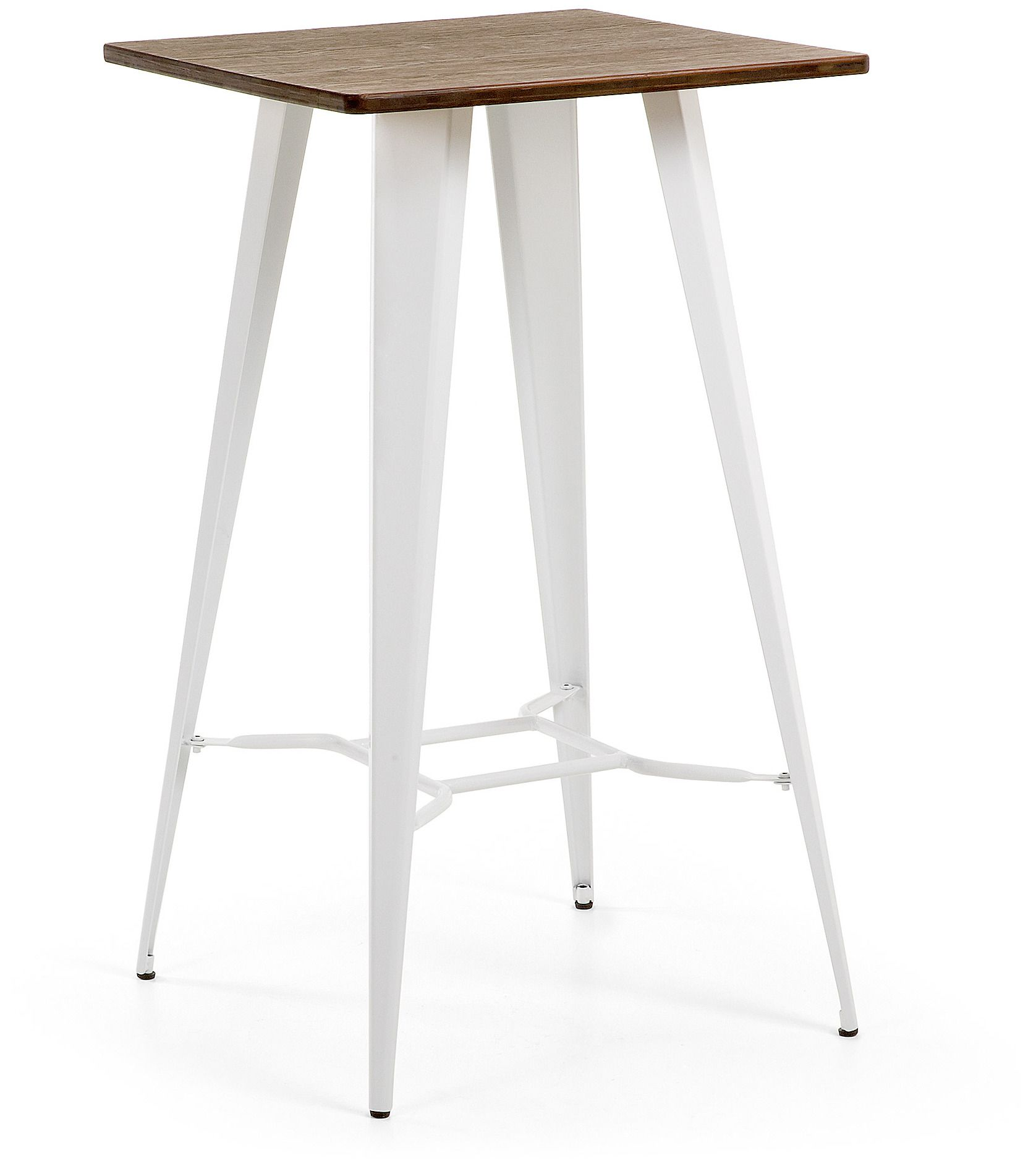 Laforma Malibu Pure White Metal Table 60x60 Mobilier Maison