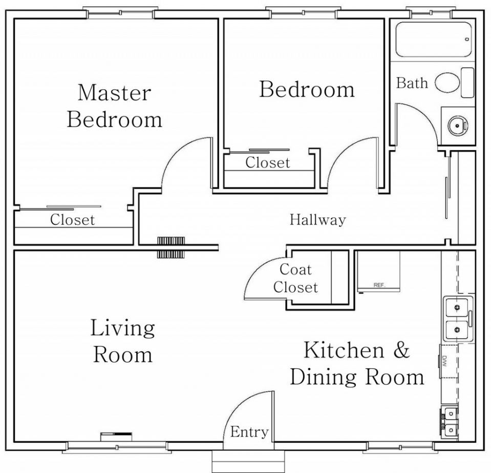 Autocad House Plans Samples Small Apartment Plans Small House Floor Plans Apartment Floor Plans