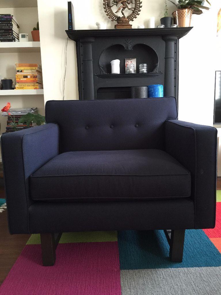 navy blue fabric arm chair islington london gumtree 17 05 15 rh pinterest com