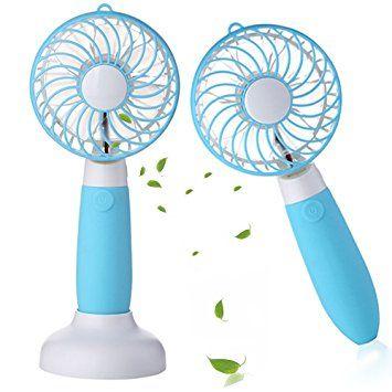welltop dual purpose handheld fan table fan with removable base usb rh pinterest com