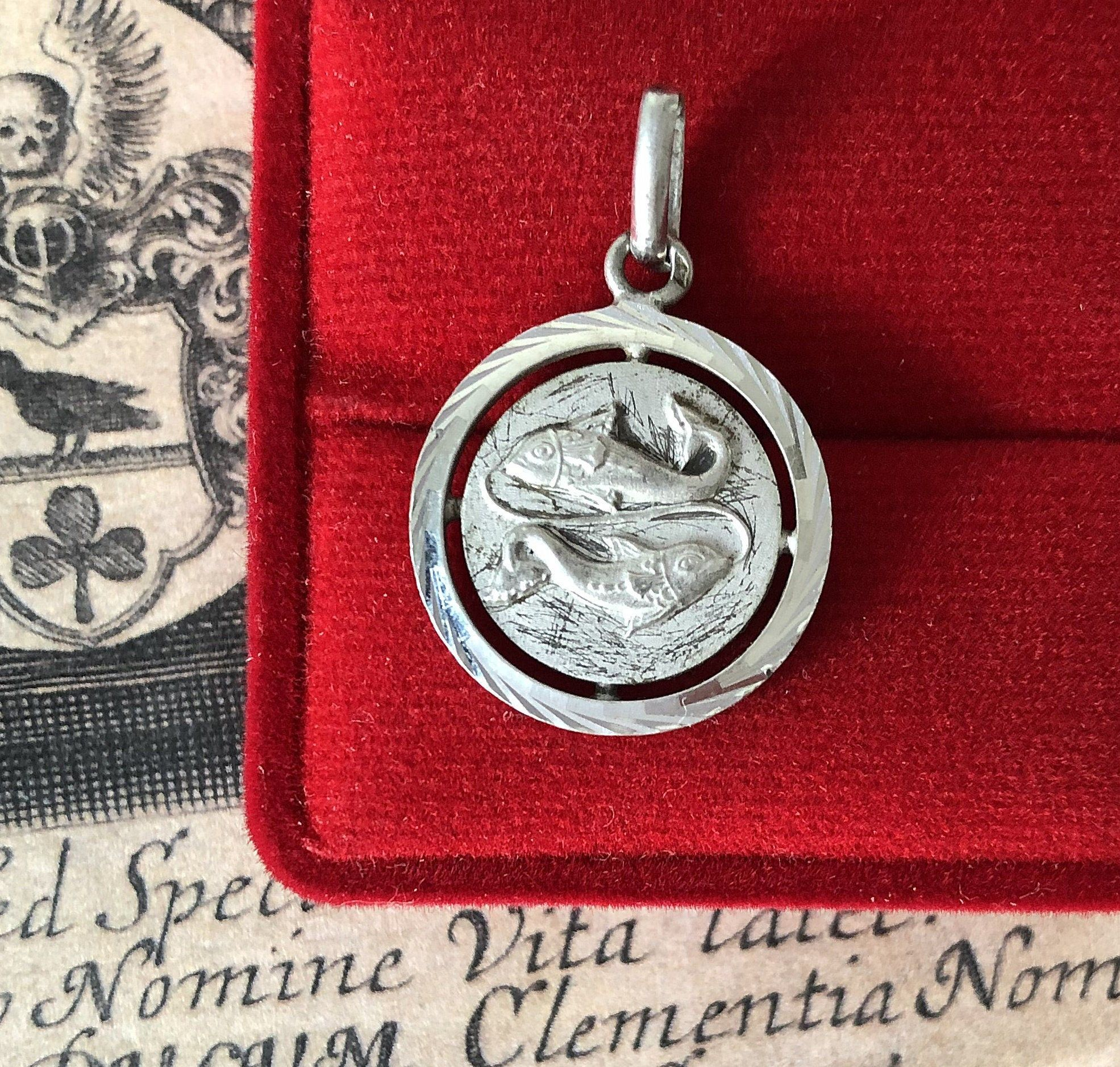 French Vintage Sterling Silver During Astrological Zodiac Sign Virgo