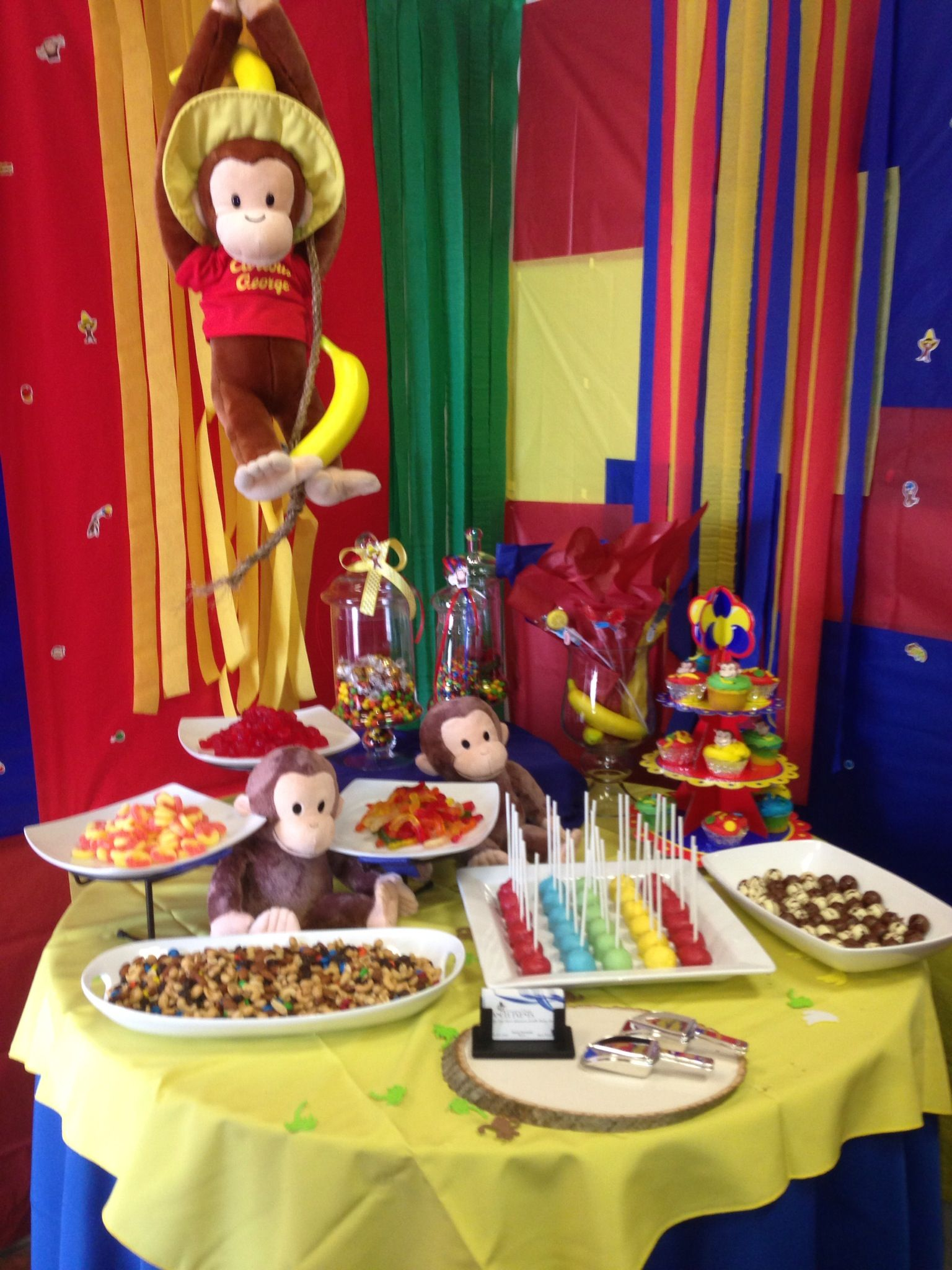 curious george candy table my baking creations birthday rh pinterest com
