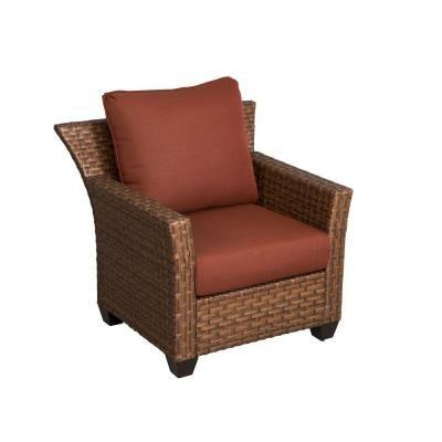 hampton bay tobago patio lounge chair with burgundy cushions 151 101 rh pinterest com