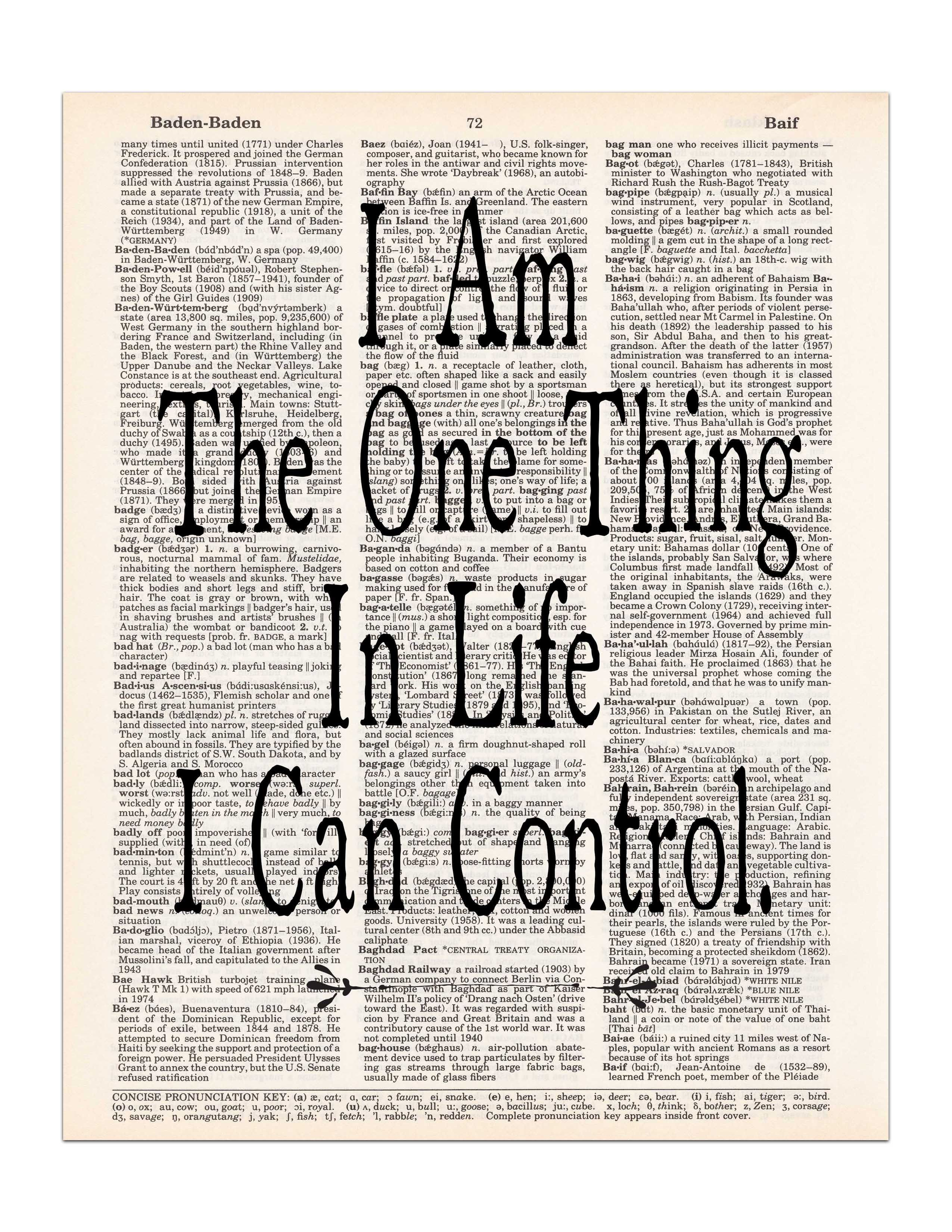 I Am The One Thing In Life I Can Control Hamilton Quote