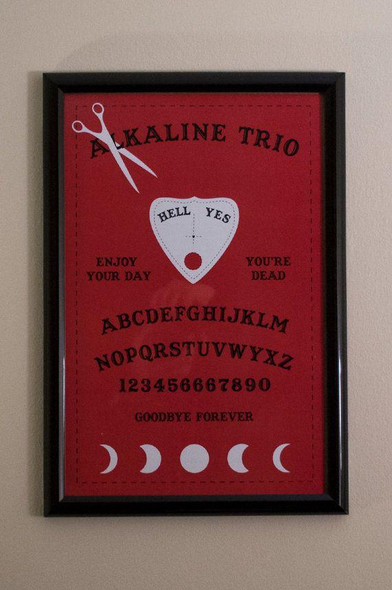 alkaline trio red ouija board 11x17 poster diy pinterest