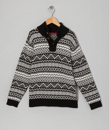 IZOD Deep Black Fair Isle Sweater - Boys   Fair isles, Boys and ...