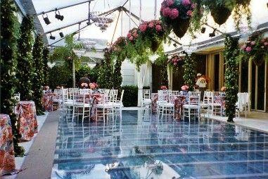Pool cover.... Backyard wedding   Pool wedding, Pool ...