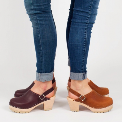 Lotta From Stockholm High Clog WIth Tractor Heel and