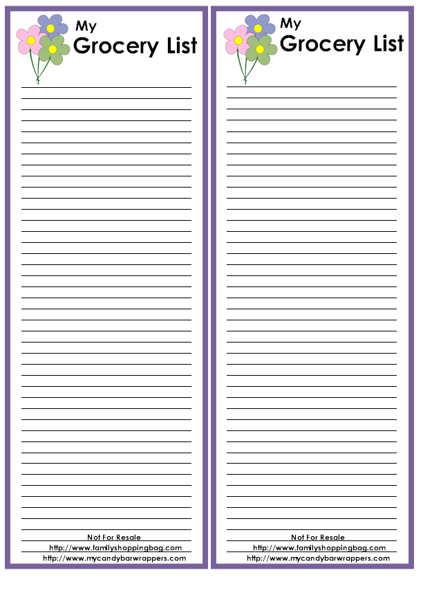 Shopping List Template Printable | Free Printable Grocery Checklist  Free Printable Grocery Shopping List Template