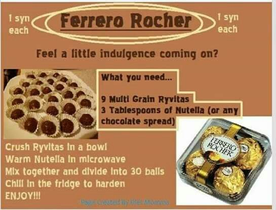 Slimming world Ferrero rocher