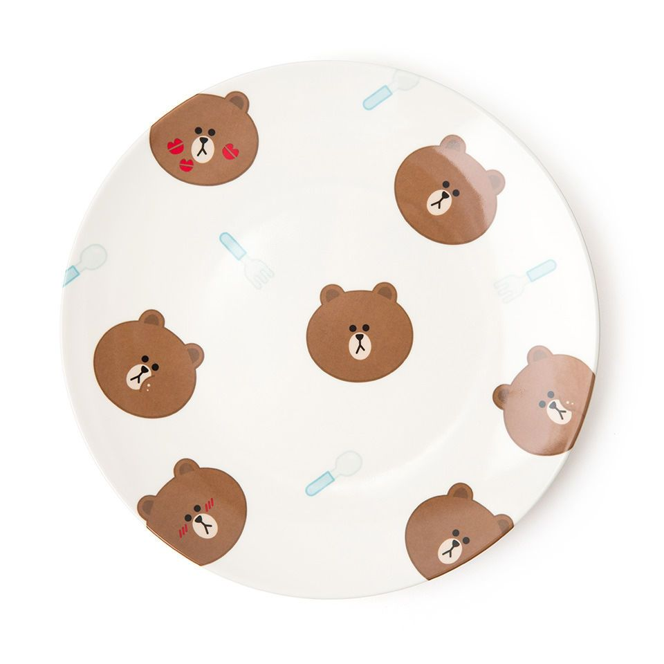 Line Friends Store Official Character Melamine Plate (M) Collection