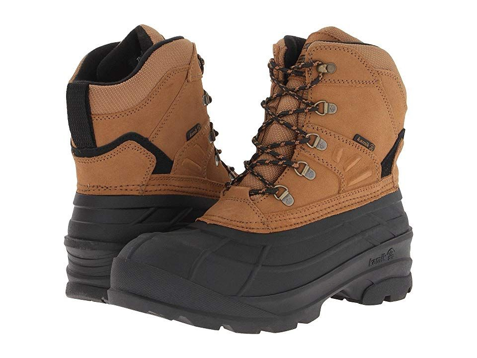 Kamik Fargo (Tan 2) Men's Cold Weather Boots. Lace up the