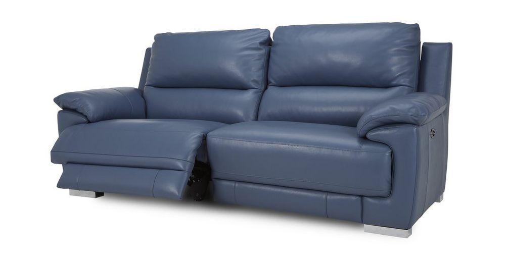 falcon 3 seater electric usb recliner new club dfs living room rh pinterest com