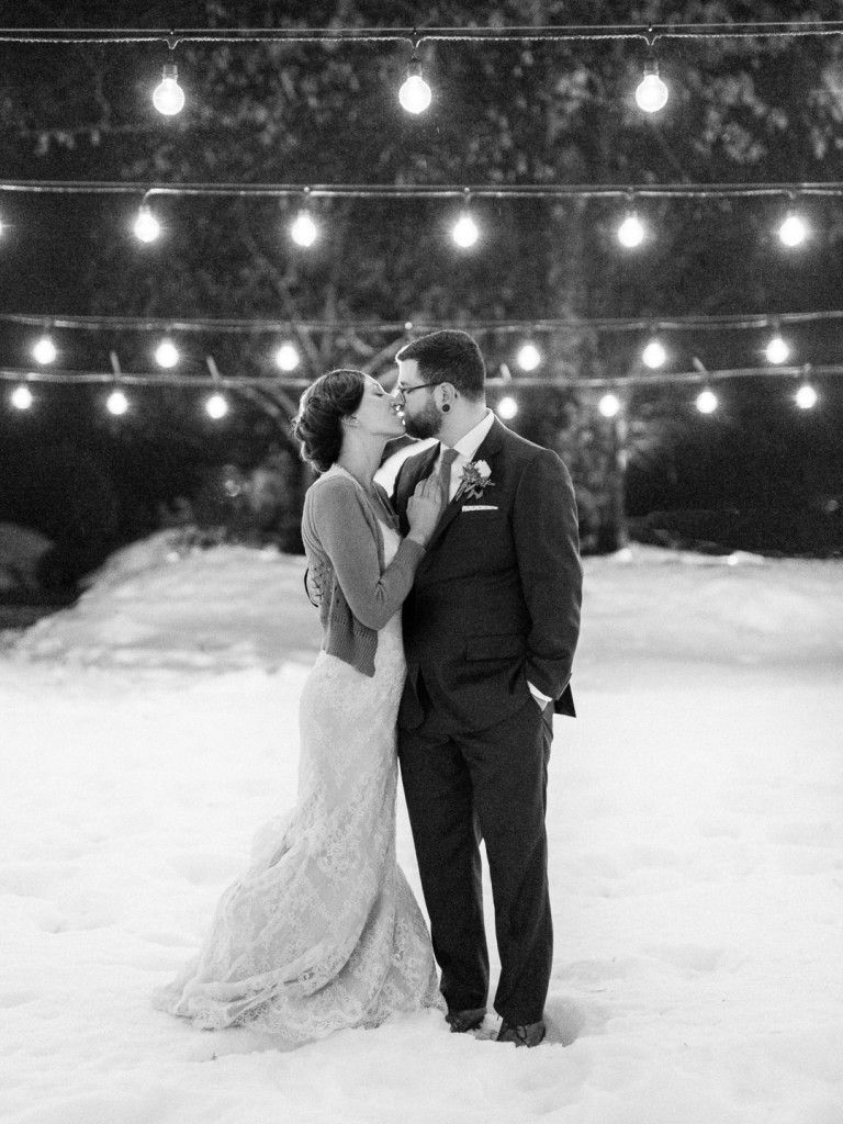 Rustic Winter Barn Wedding at the Bedford Village Inn in