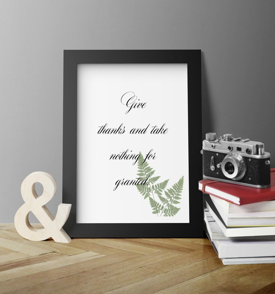Take nothing for granted Mindfulness Wall artPoster