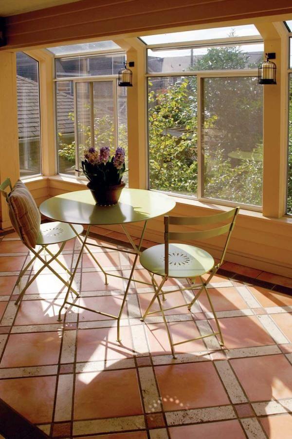 tiled floor sunspace Sunroom Decorating Sunroom Ideas
