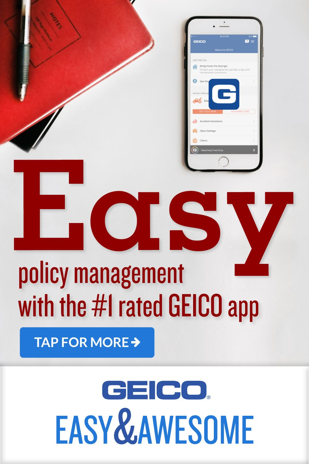 Choose Geico Get 24 7 Service An Easy Mobile App And Over 75