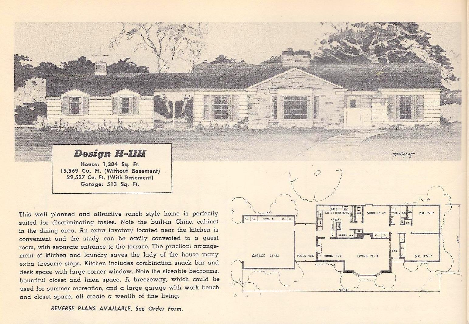Vintage House Plans 11h Vintage House Plans Ranch House Plans House Plans