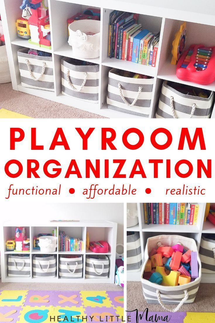 Playroom Organization tips and tricks for a realistic functional space for babies, toddlers, + kids