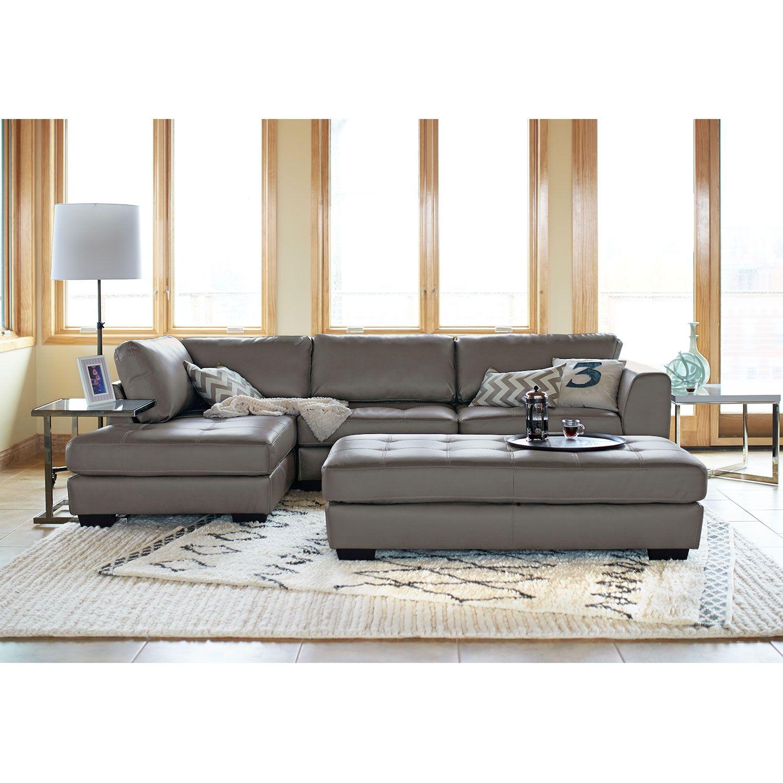 living room furniture lyon gray 2 pc sectional house home rh pinterest com