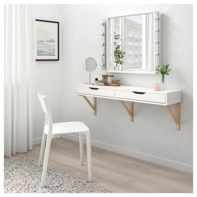132 Makeup Vanities Design Ideas 14 Wall Shelf With Drawer Ikea Wall Shelves Drawer Shelves