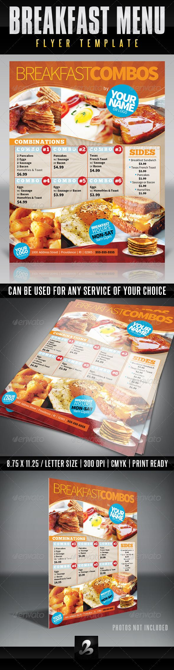 Menu Flyer Template Breakfast – Menu Flyer Template