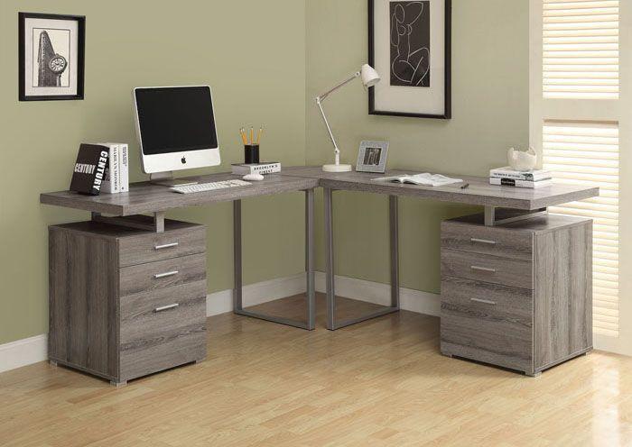 72 inch x 30 inch x 72 inch corner computer desk in grey kids in rh pinterest com