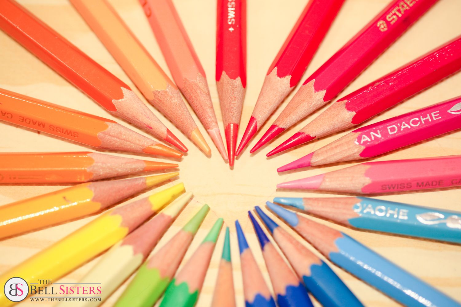 Colourful Pencils in Heart Shape. Available as Wall Art (Canvas ...