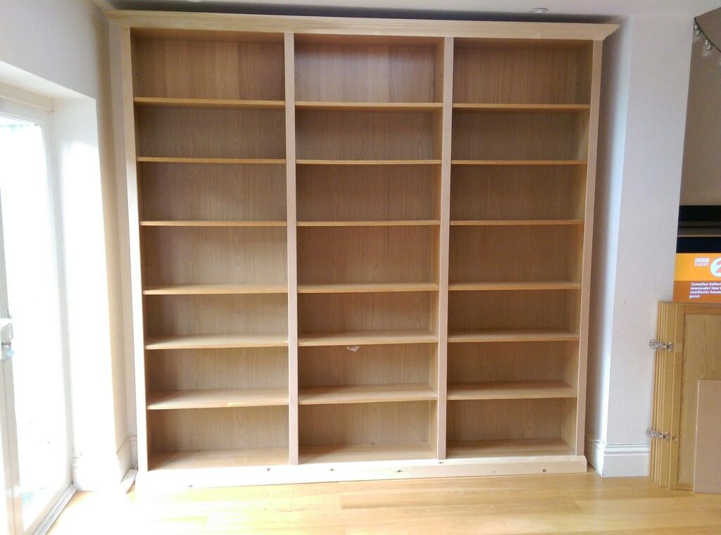 pimped ikea billy bookcase with added skirting and pelmet www rh pinterest com