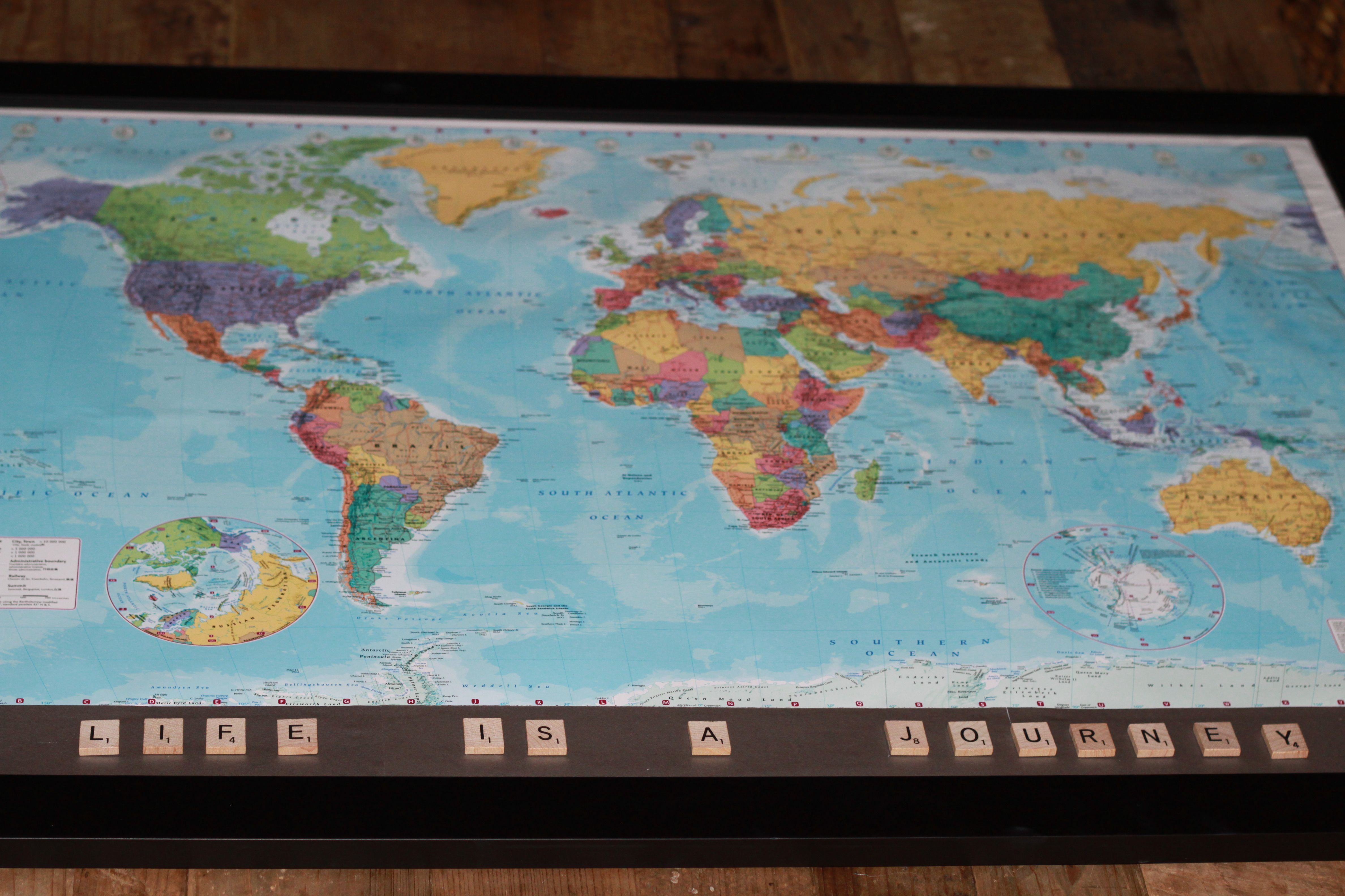 Personalised Map Of The World2 Travel