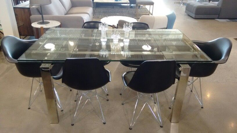 6062477170746 Cantro Glass Extension Dining Table