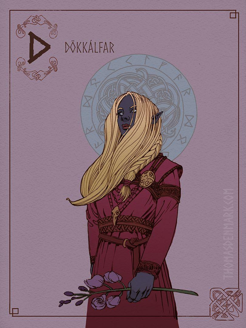 Dokkalfar (Dark Elf) Creating the Grimoire Mythology