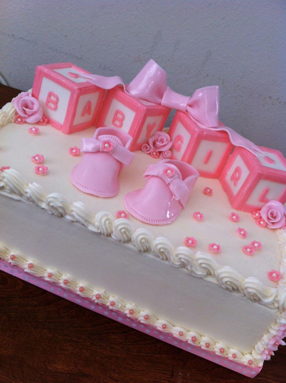 It S A Girl Baby Shower Cake Vanilla Cake W Banana Custard -4060