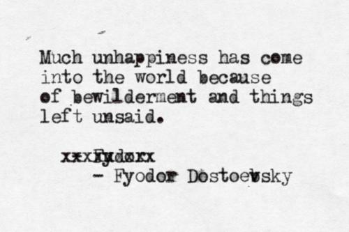 Dostoevsky - unhappiness