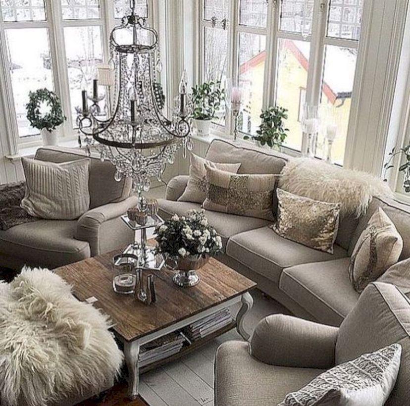 Breathtaking 46 Rustic Living Room Decor Ideas
