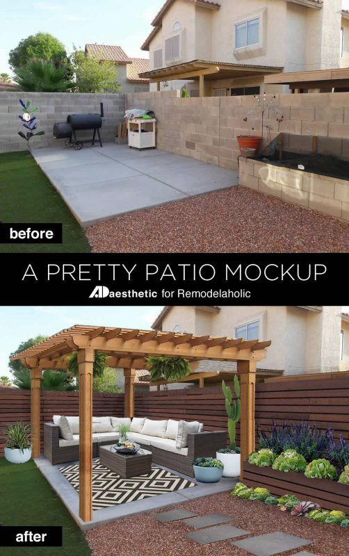 reader question pretty patio from a concrete slab remodelaholic rh pinterest com