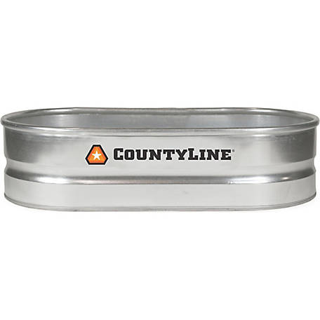 Countyline Oval Galvanized Stock Tank 2 Ft W X 4 Ft L X 1 Ft H Wt214 At Tractor Supply Co Stock Tank Galvanized Stock Tank Tractor Supplies